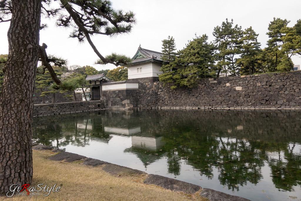 mura cinta fossato tokyo palazzo imperiale