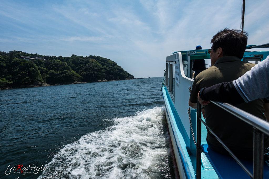 scorcio dal battello che porta ad Enoshima
