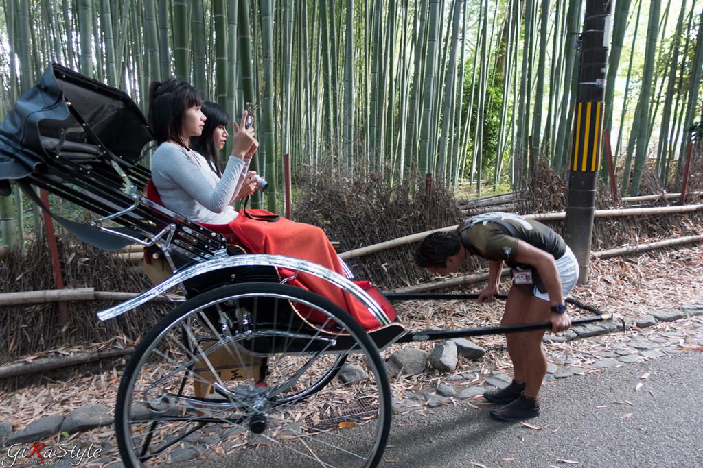 Risciò foresta di bamboo Kyoto