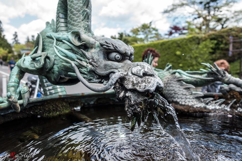 Un drago sputa acqua a Nikko