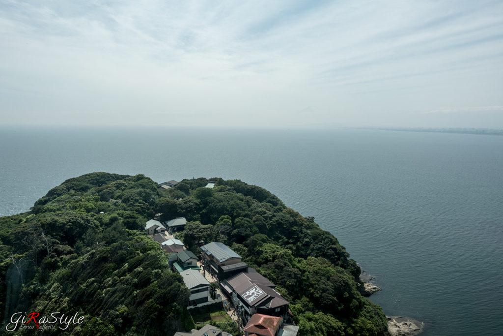 Vista dell'oceano da Enoshima