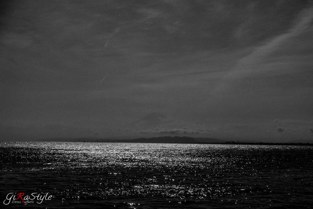 bianco e nero del monte Fuji
