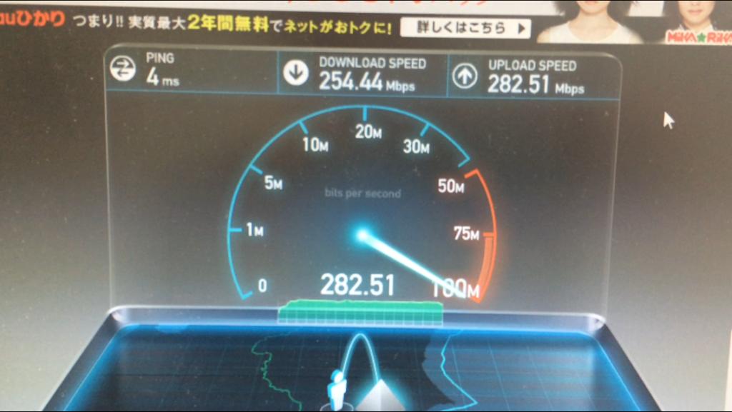 Test velocità internet in Giappone