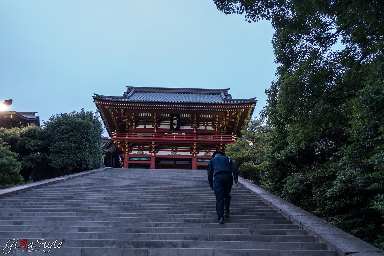Scale in pietra a Kamakura di accesso al Santuario