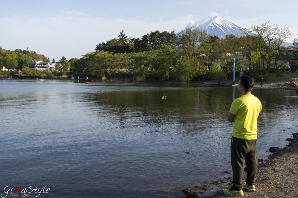 Pesca ai piedi del Fuji