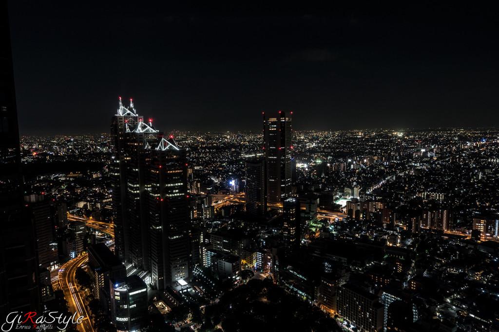 Vista dal Tokyo Metropolitan Government Building .