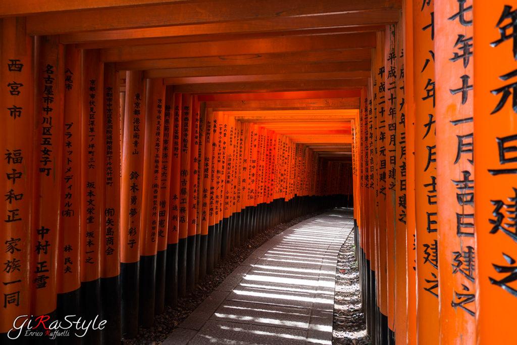Pilastri dei torii del Fushimi Inari