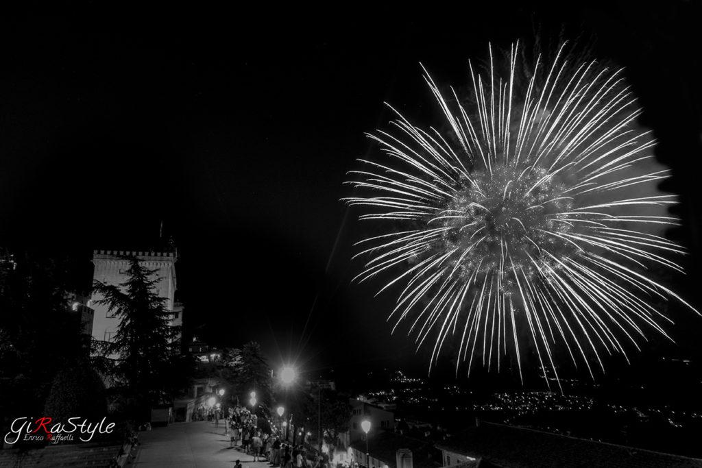 Palazzo del Governo San Marino fireworks