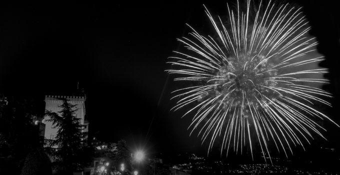 spettacolo dei fuochi d'artificio a San Marino