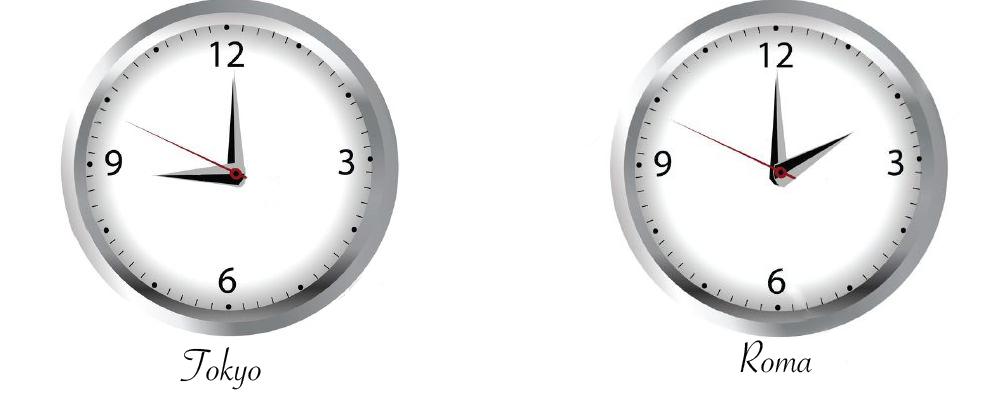 Differenza orario Tokyo e Roma