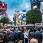 foto dell'incrocio di shibuya