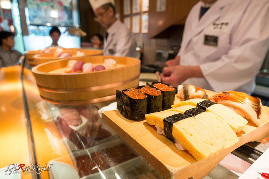 Sushi a Tsukiji