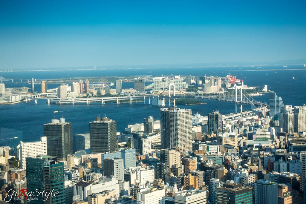 vista dalla Tokyo Tower di Odaiba