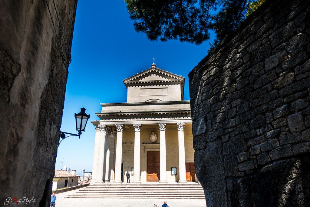 Basilica di San Marino dall'alto